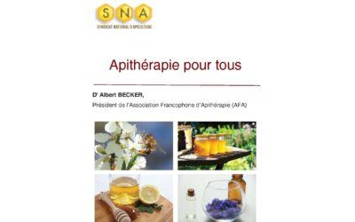 """Apithérapie pour tous""  Dr Albert Becker"